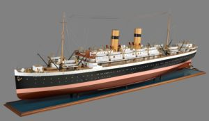Schaalmodel SS Orania -Scheepvaartmuseum Amsterdam